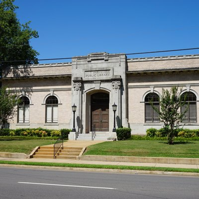 The Paris Public Library in Paris, Texas (United States).