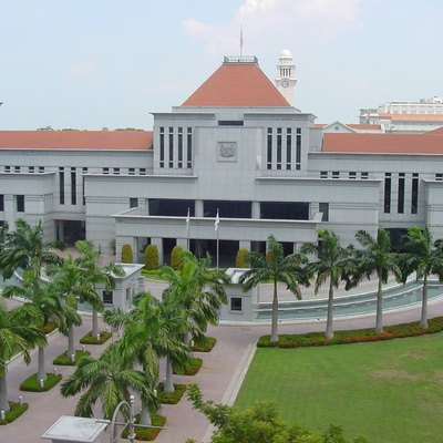 An aerial view of Parliament House in Singapore.