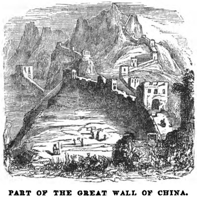 Part of the Great Wall of China (April 1853, X, p.41)