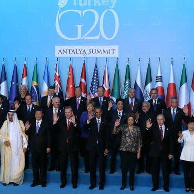 Participants at the 2015 G20 Summit in Turkey