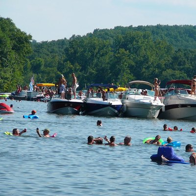 Party Cove, Lake of the Ozarks, Missouri.