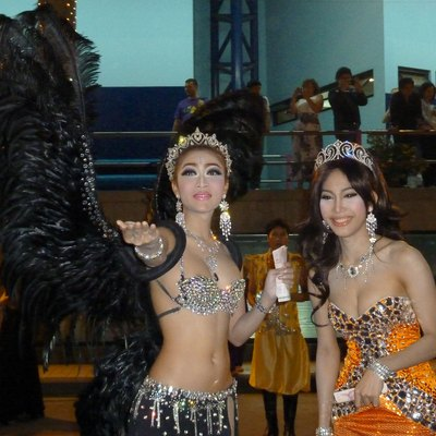 Kathoey performers at a cabaret in Pattaya