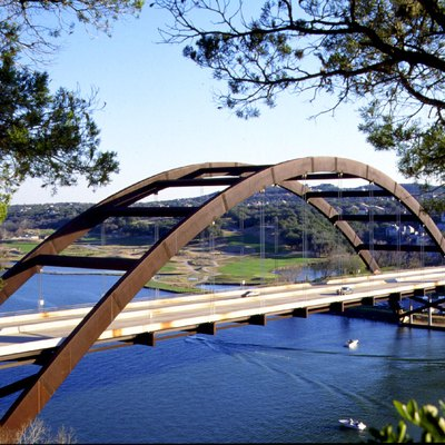 Pennybacker Bridge takes Loop 360 over Lake Austin in Austin Texas