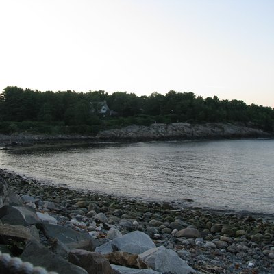 Looking toward the Marginal Way from Perkins Cove