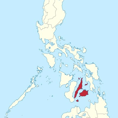 Location of Central Visayas region in the Philippines.