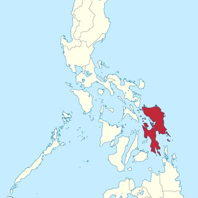 Location of Eastern Visayas region in the Philippines.