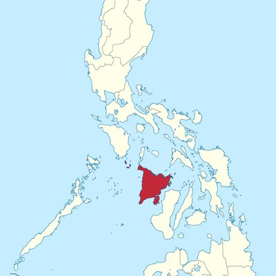 Location of Western Visayas region in the Philippines.
