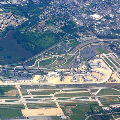 Aerial photograph of Philadelphia International Airport