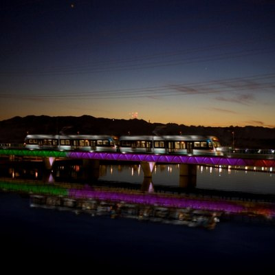 Phoenix Light Rail at Night