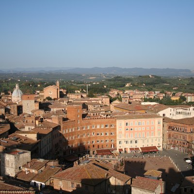 A photograph taken of the Piazza del Campo in Siena