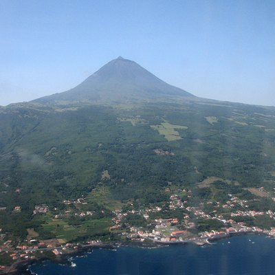 Aerial view of Pico Island, Azores