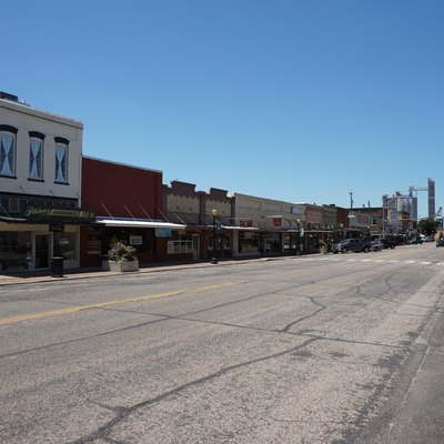 Jefferson Street in Pittsburg, Texas (United States).