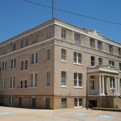 The Camp County Courthouse in Pittsburg, Texas (United States).