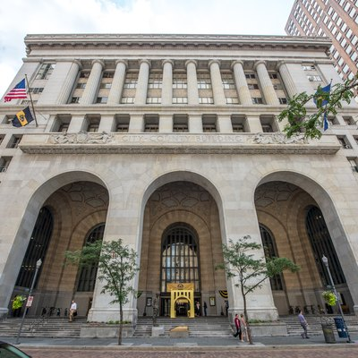 Built from 1915-1917, the Pittsburgh City-County Building is the seat of government of the City of Pittsburgh.