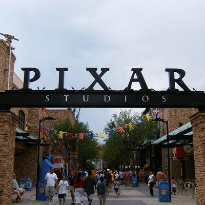 Picture of the entrance to Pixar Place, at Disney's Hollywood Studios