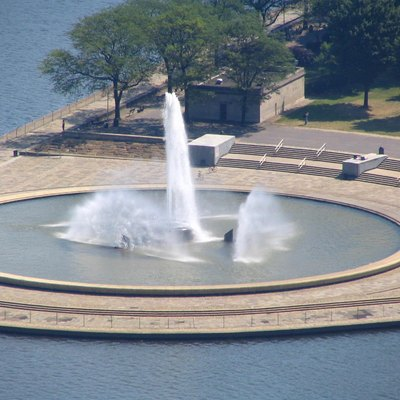 The water fountain at Point State Park in Pittsburgh, Pennsylvania