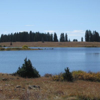 Pond on top of Grand Mesa Colorado. Photot taken on September 24 2011
