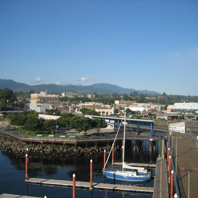 Port Angeles, Washington From The Pier Tower, Early Morning August 23rd 2007.