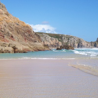 Porthcurno beach, Penwith, Cornwall.