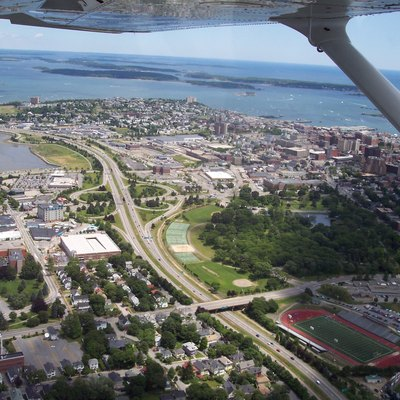 Portland, Maine from above.