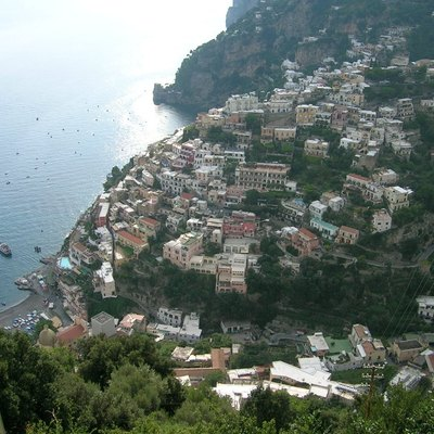 Positano, Italy, view from above, September 2005