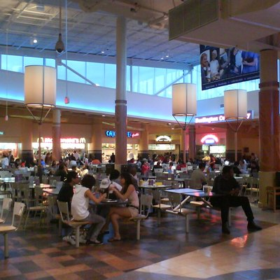 Facing Northeast in the Potomac Mills food court.