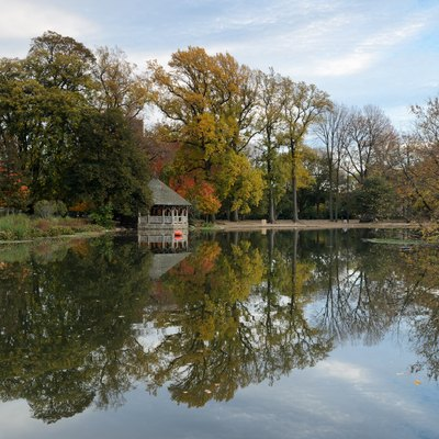 The Lake, Prospect Park, Brooklyn, New York City.