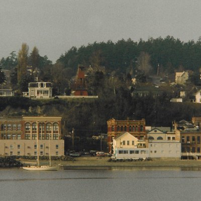 View from ferry to downtown Port Townsend, Washington.