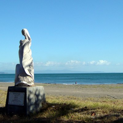 Sculpture on the beach of Puntarenas