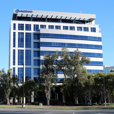 The headquarters of Qualcomm in the La Jolla area of San Diego, California. Photographed on December 26, 2015 by user Coolcaesar.