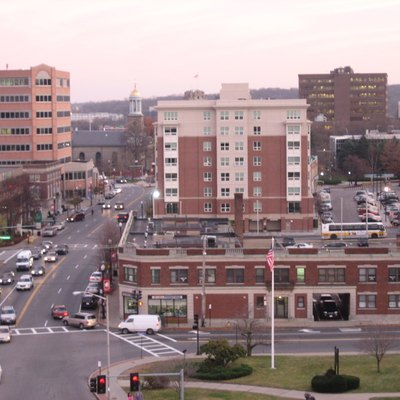 View of Quincy Center in Quincy, MA, by User:Cquan (2006).