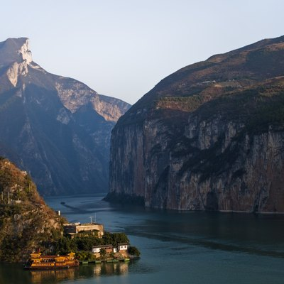 View of the Qutang Gorge along the Yangtze River from Baidicheng.