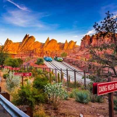 Detailed image of Radiator Springs Racers, Cars Land, Disney's California Adventure.