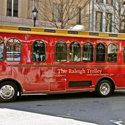 A trolley in Raleigh