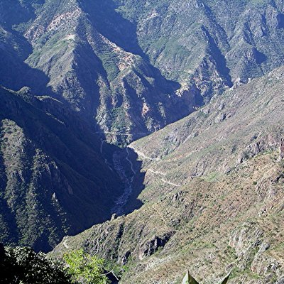 The road to Batopilas descends into Copper Canyon