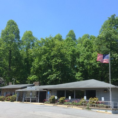 Roaring Gap post office in Alleghany County, North Carolina.