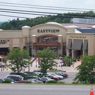 Eastview Mall In Victor, New York, In The Rochester, New York Area. This Image Shows The Newest Section Of The Mall, With Valet Parking Available In Front. The Road At The Very Bottom Edge Of The Image Is state Route 96.