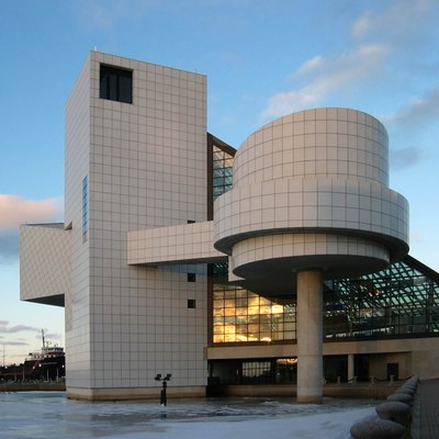 The Rock and Roll Hall of Fame, Cleveland, Ohio; architect: I. M. Pei