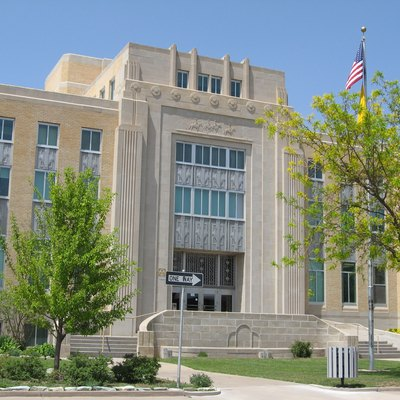 Roosevelt County, New Mexico Court House In Portales