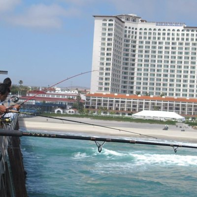 View of the Rosarito Beach Hotel and Pier
