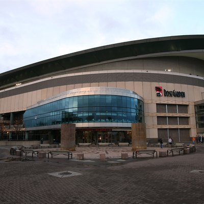 The Rose Garden Arena in Portland, Oregon.