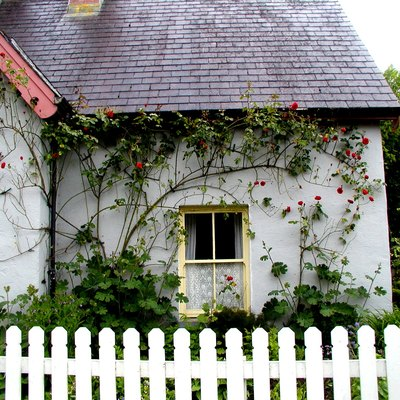 Rose cottage at Bunratty Folk Park