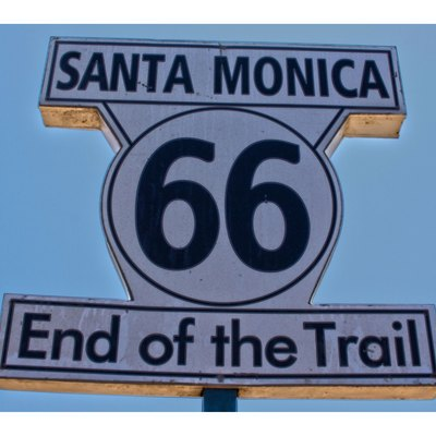 Santa Monica is the end of route 66, this is the sign
