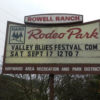 Signage At Rowell Rodeo Park, Near Castro Valley, California, A Division Of Hayward Area Recreation And Parks District