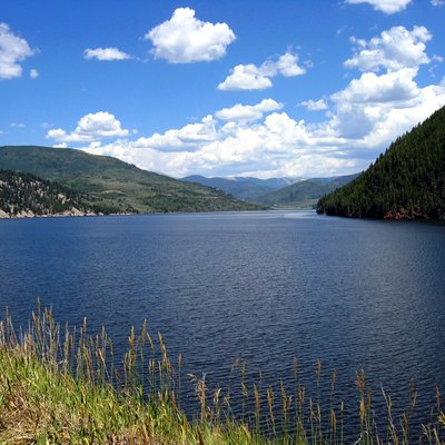 Ruedi Reservoir in July. (The image name is misspelled.)