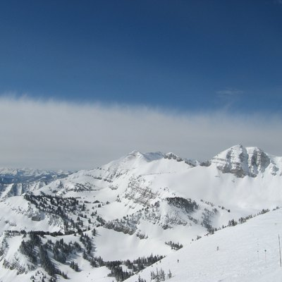 View from the top of Rendezvous Bowl, around 11 AM, 3/28/2008.