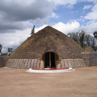 A reconstruction of the traditional King's palace at Nyanza, Rwanda