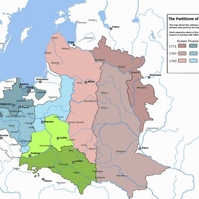 Partitions Of Poland, Carried Out By Prussia, Russia And Austria In 1772, 1793 And 1795