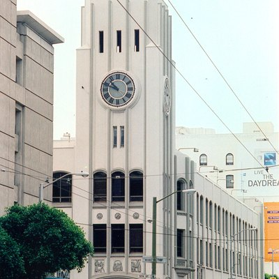 San Francisco Chronicle newspaper building at 901 Mission and 5th Streets in San Francisco. 1999 photograph by Nancy Wong