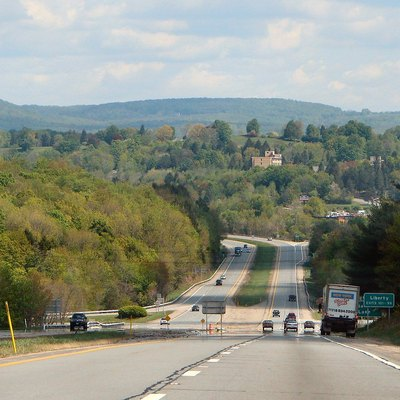 State Route 17 near Liberty, New York, USA